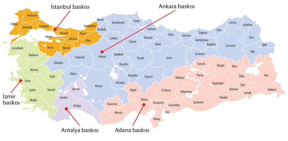 Sabah Ankara Sarı Sayfalar Baskı Bölgeleri